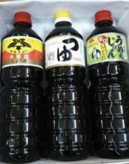東和の佐々長醸造醤油つゆセットの特産品画像