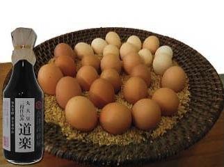 やますけ農園 自然卵と濃口醤油セットの特産品画像