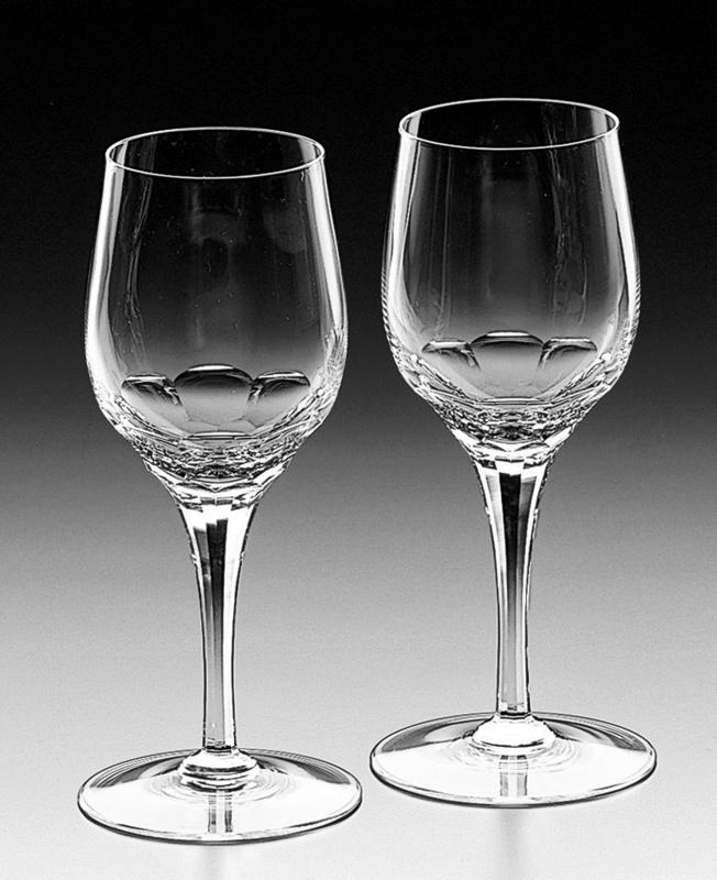 宮内庁や外務省・在外公館に数多くの製品を納めるカガミクリスタル社製「ペアワイングラス」の特産品画像