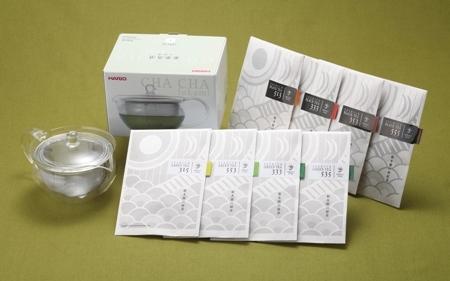 緑茶・紅茶のティーセレクト(ガラス急須付)の特産品画像