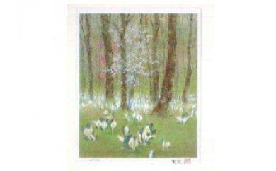 倉島重友オリジナルリトグラフ「萌ゆる春」の特産品画像