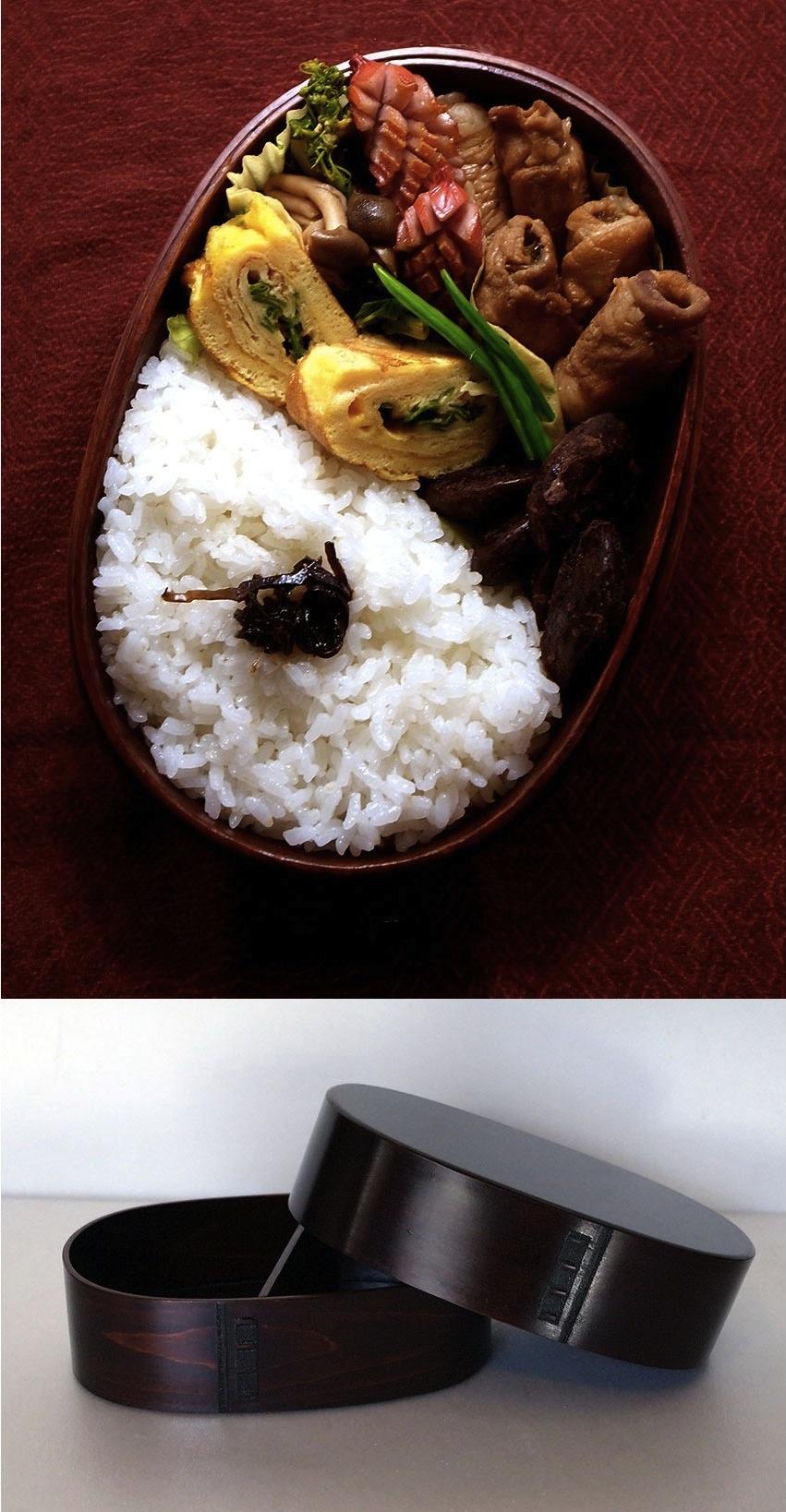 木曽ひのき小判メンパ 中 お弁当箱の特産品画像