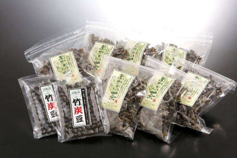 芽かぶ茶・竹炭豆詰合せの特産品画像