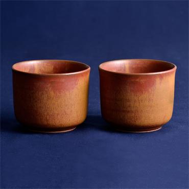 400年以上の伝統を誇る小倉藩窯・国焼茶陶「上野焼」酎杯ペアセットの特産品画像